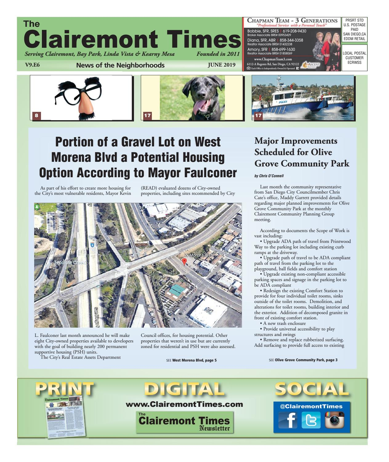 Midshore Regional E Cycle Events 2020.The Clairemont Times June 2019 By Clairemont Times Issuu