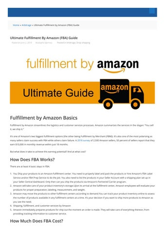 fulfillment by amazon cost