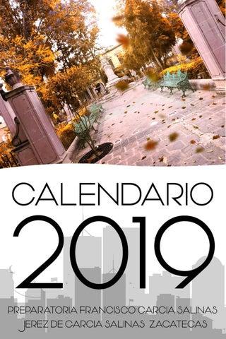 2019 Calendario 2D Jerez De Garcia Salinas Preparatoria F G S