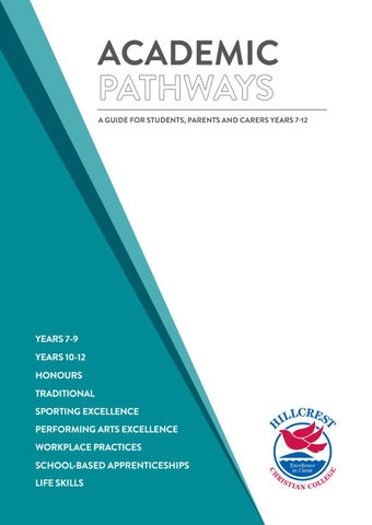 SLC Academic Pathways by Hillcrest Christian College - issuu