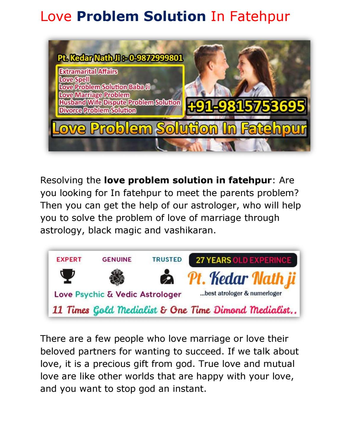 Love Problem Solution In Fatehpur - +91-9815753695, 0