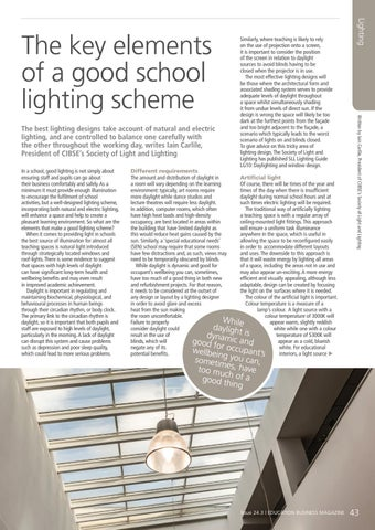 Page 43 of The key elements of a good school lighting scheme