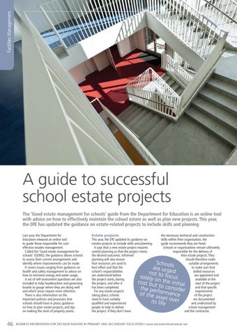 Page 46 of A guide to successful school estate projects