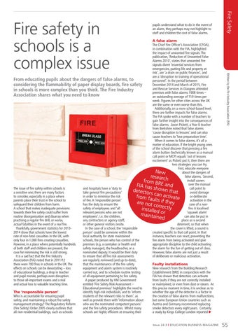 Page 55 of Fire safety in schools is a complex issue