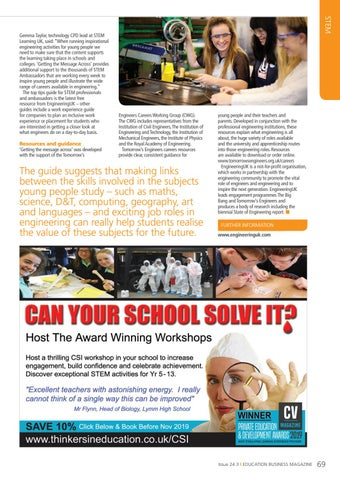 Page 69 of Inspiring engineering as a career choice