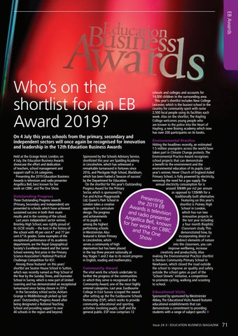 Page 71 of Who's on the shortlist for an EB Award 2019?