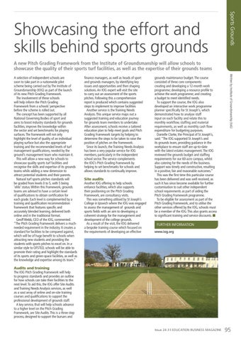 Page 95 of Showcasing the effort and skills behind sports grounds