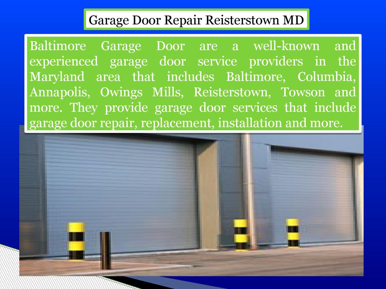 Garage Door Repair Reisterstown Md By Seanbenjaminonline   Issuu
