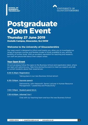 University of Gloucestershire School of Business