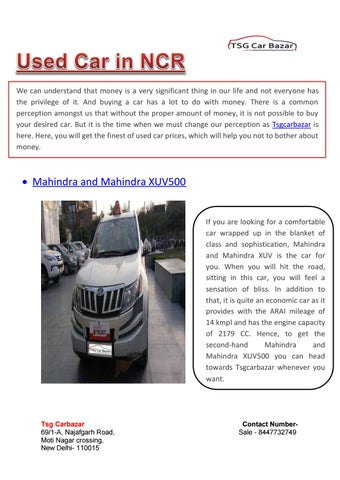 Used Car In Delhi NCR by thesachdevgroup - issuu