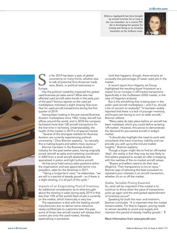 Page 49 of Used Jet Market Opinion: Chris Brenner, Jetcraft
