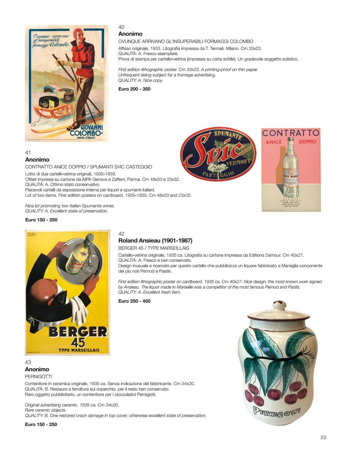 Stampa Su Ceramica Milano.Asta 0407 Vebuka Com