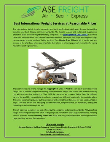 Military Freight Companies