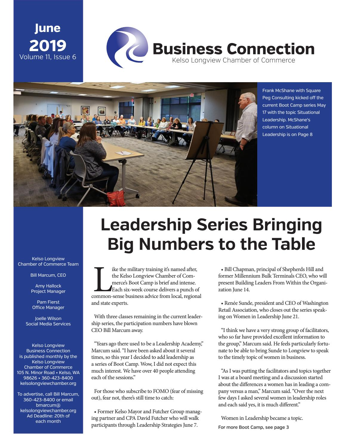 June 2019 Business Connections By Kelso Longview Chamber Of Commerce