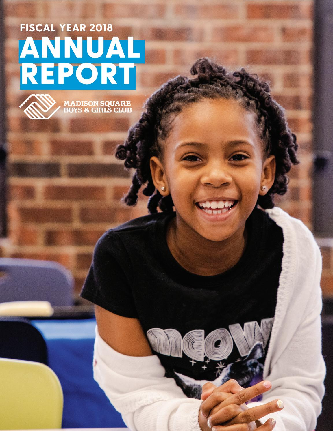 FY18 Annual Report by Madison Square Boys & Girls Club - issuu