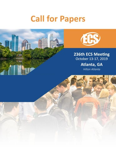 236th ECS Meeting, Call for Papers by The Electrochemical Society