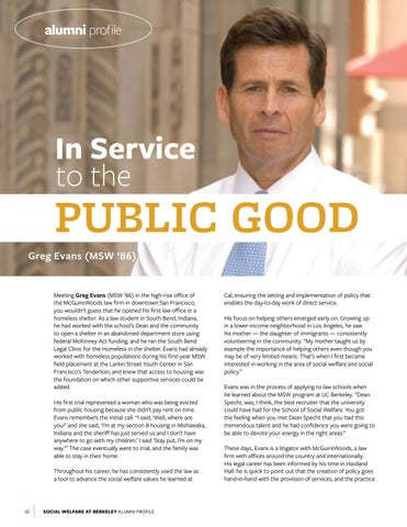 Page 16 of Alumni Profile: Greg Evans (MSW '86)