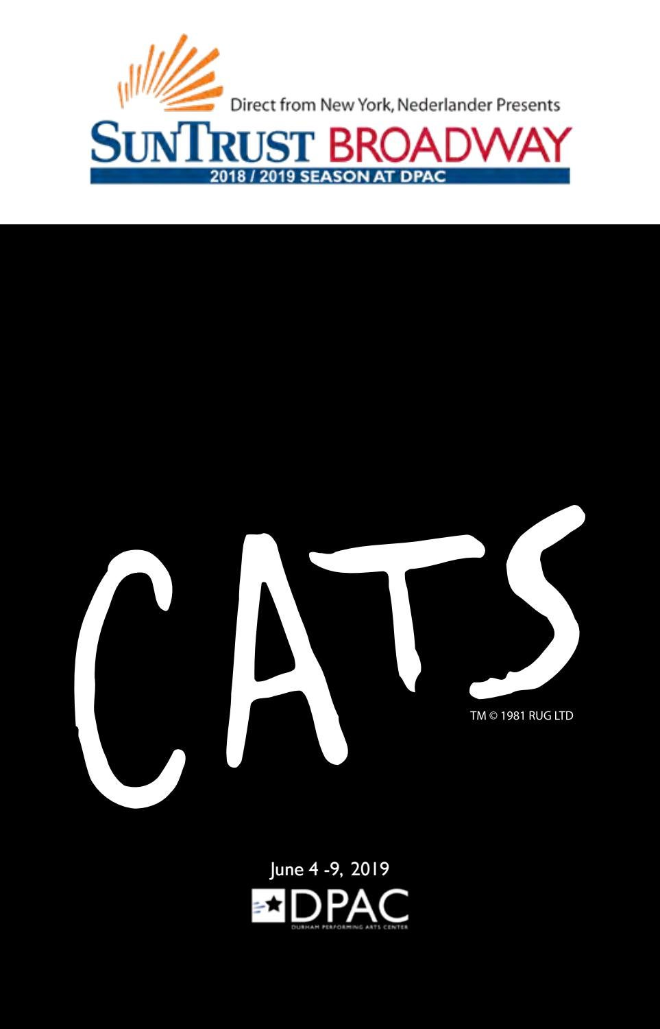 Cats Playbill By Dpac Issuu