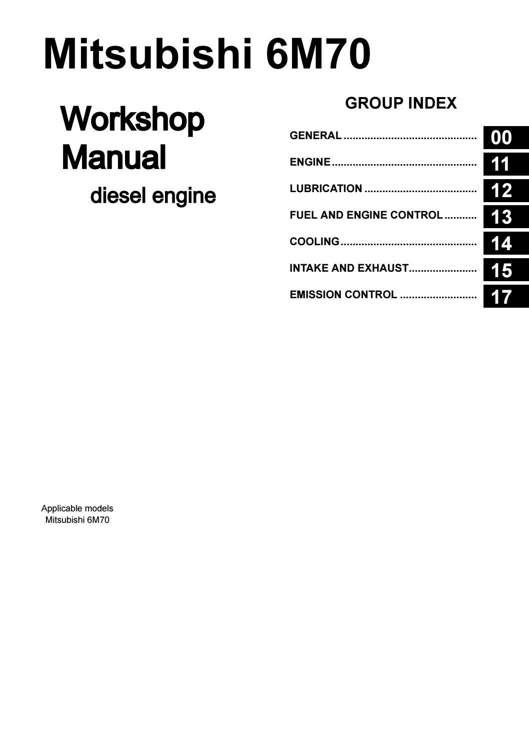 Mitsubishi 6m70 Workshop Manual Copy Free By Engineparts2 Issuu
