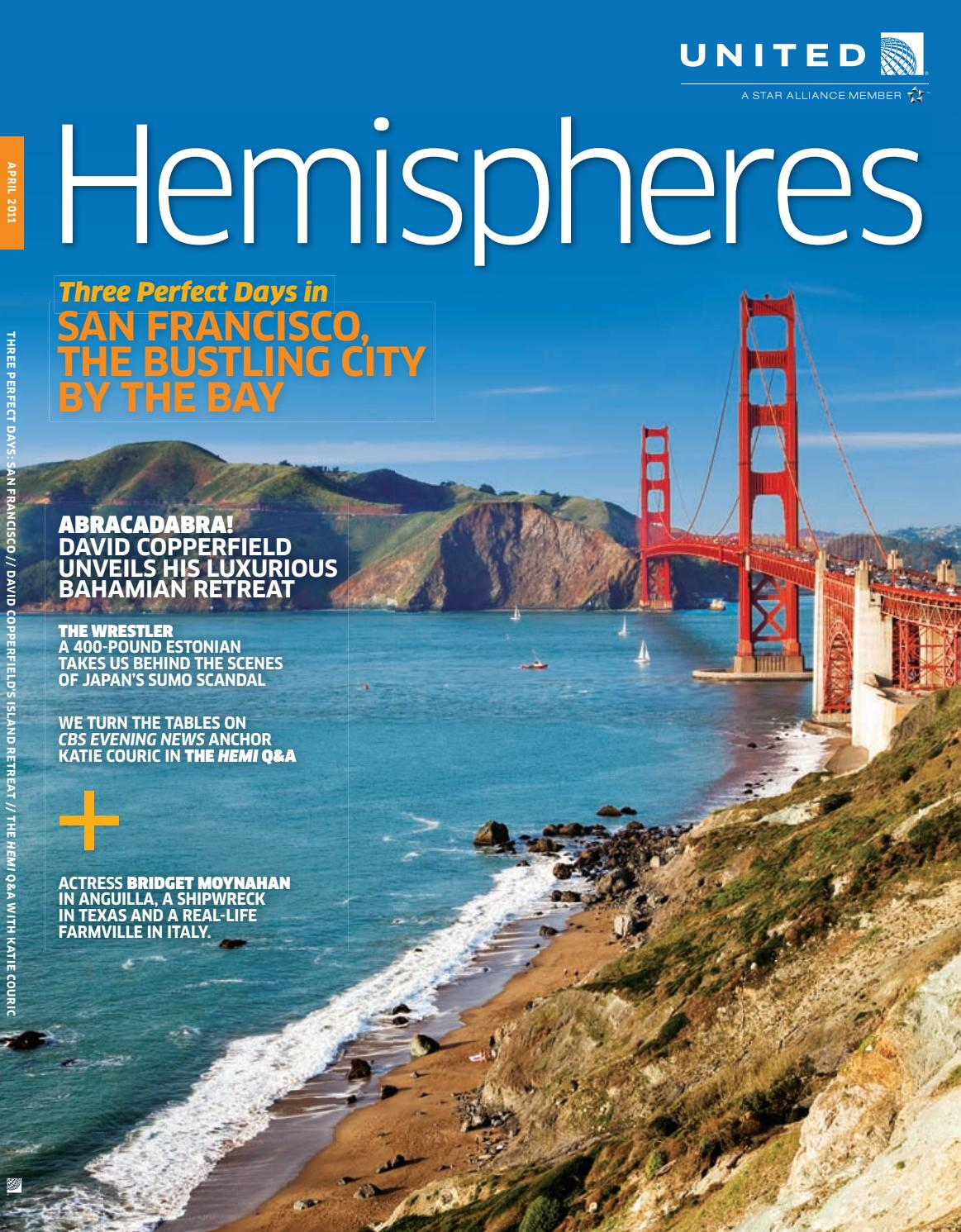 United Airlines Hemispheres Magazine April 2011 By Ahmed
