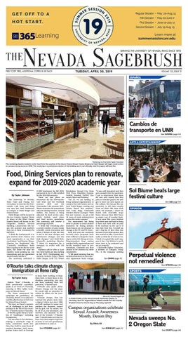 Unr Spring Graduation 2020.Food Dining Services Plan To Renovate Expand For 2019 2020