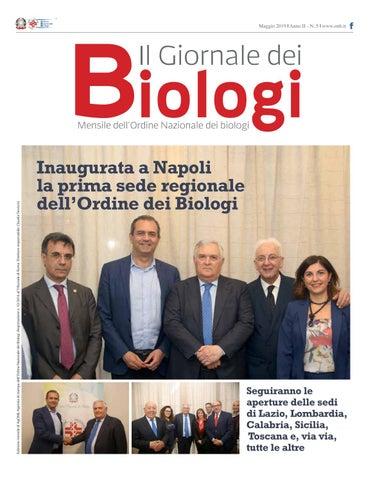 3791ed2c47 Il Giornale dei Biologi - N. 5 - Maggio 2019 by Ordine Nazionale dei ...