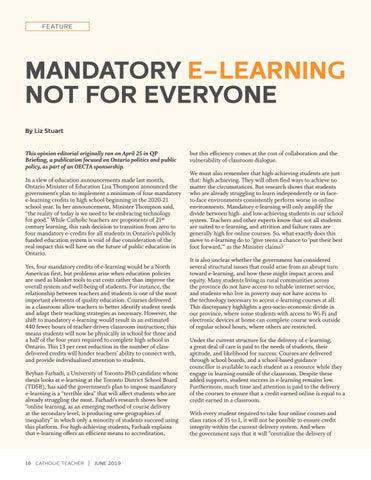 Page 10 of MANDATORY E-LEARNING NOT FOR EVERYONE By Liz Stuart