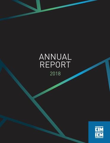 Annual Report 2018 by CIM-ICM Publications - issuu