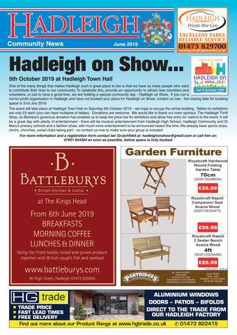 Hadleigh Community News June 2019 By Keith Avis Printers