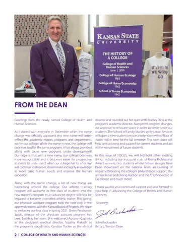 Page 2 of From the Dean
