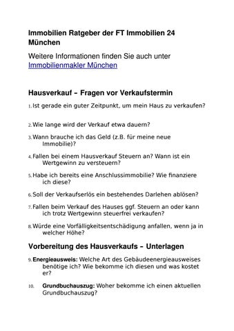 Ratgeber Der Ft Immobilien 24 By Ft Immobilien 24 Issuu