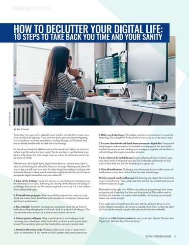Page 11 of HOWTO DECLUTTER YOUR DIGITAL LIFE: 10 STEPS TO TAKE BACK YOUR TIME AND YOUR SANITY