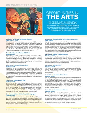 Page 12 of OPPORTUNITIES IN THE ARTS