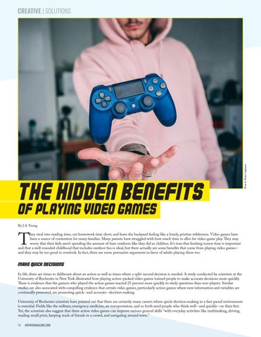 Page 14 of THE HIDDEN BENEFITS OF PLAYING VIDEO GAMES