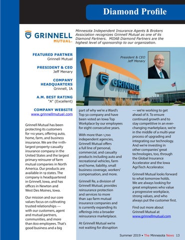 Page 13 of Grinnell Mutual Diamond Profile