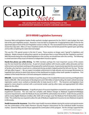 Page 31 of 2019 MIIAB Legislative Summary