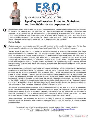 Page 39 of E&O Q&A