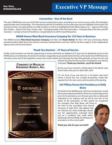 Page 9 of MIIAB Executive VP Message
