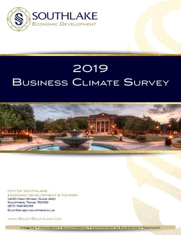 2019 Southlake Business Climate Survey Report by City of