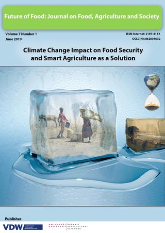 Climate Change Impact on Food Security and Smart Agriculture as a