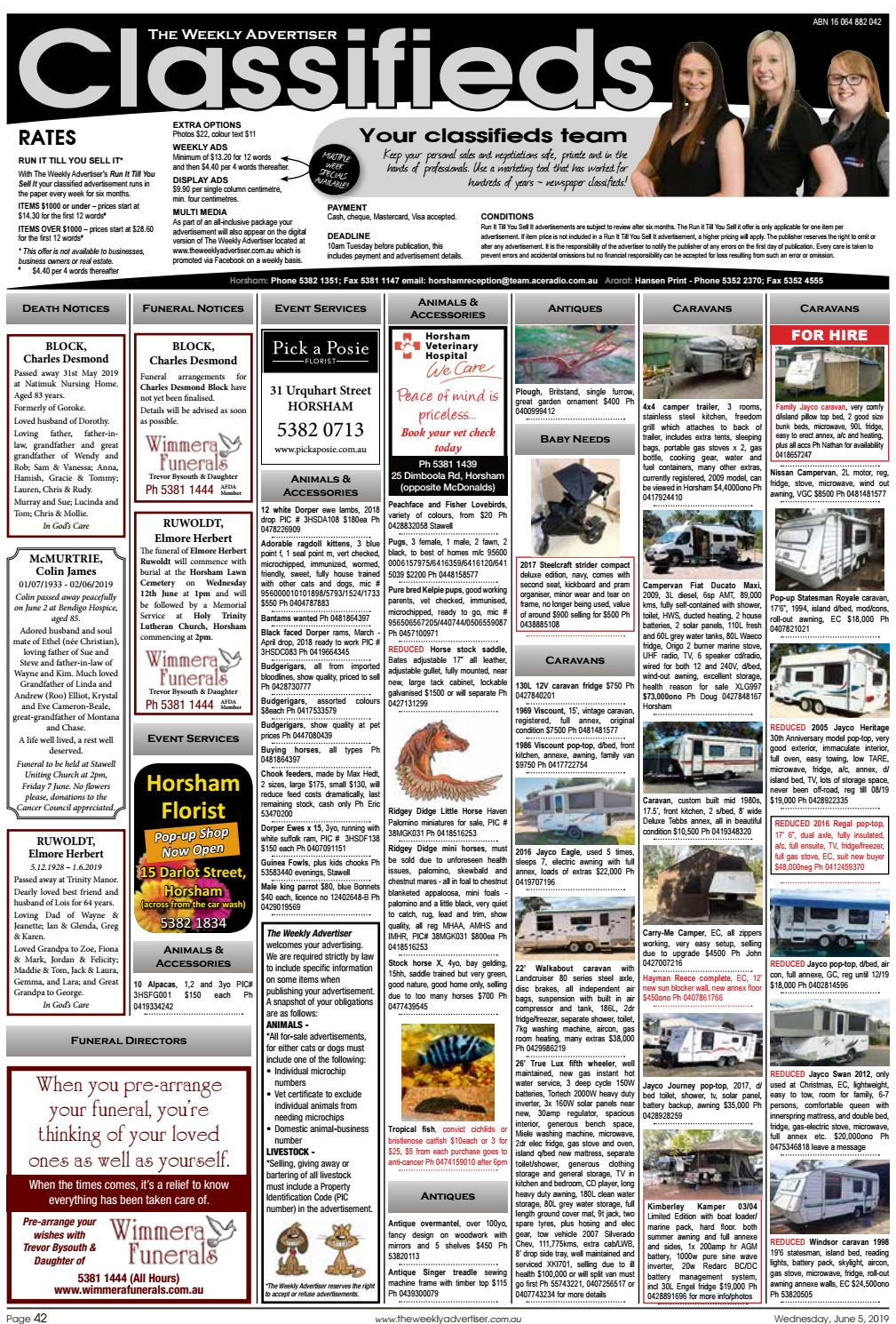 The Weekly Advertiser - Wednesday, June 5, 2019 by The