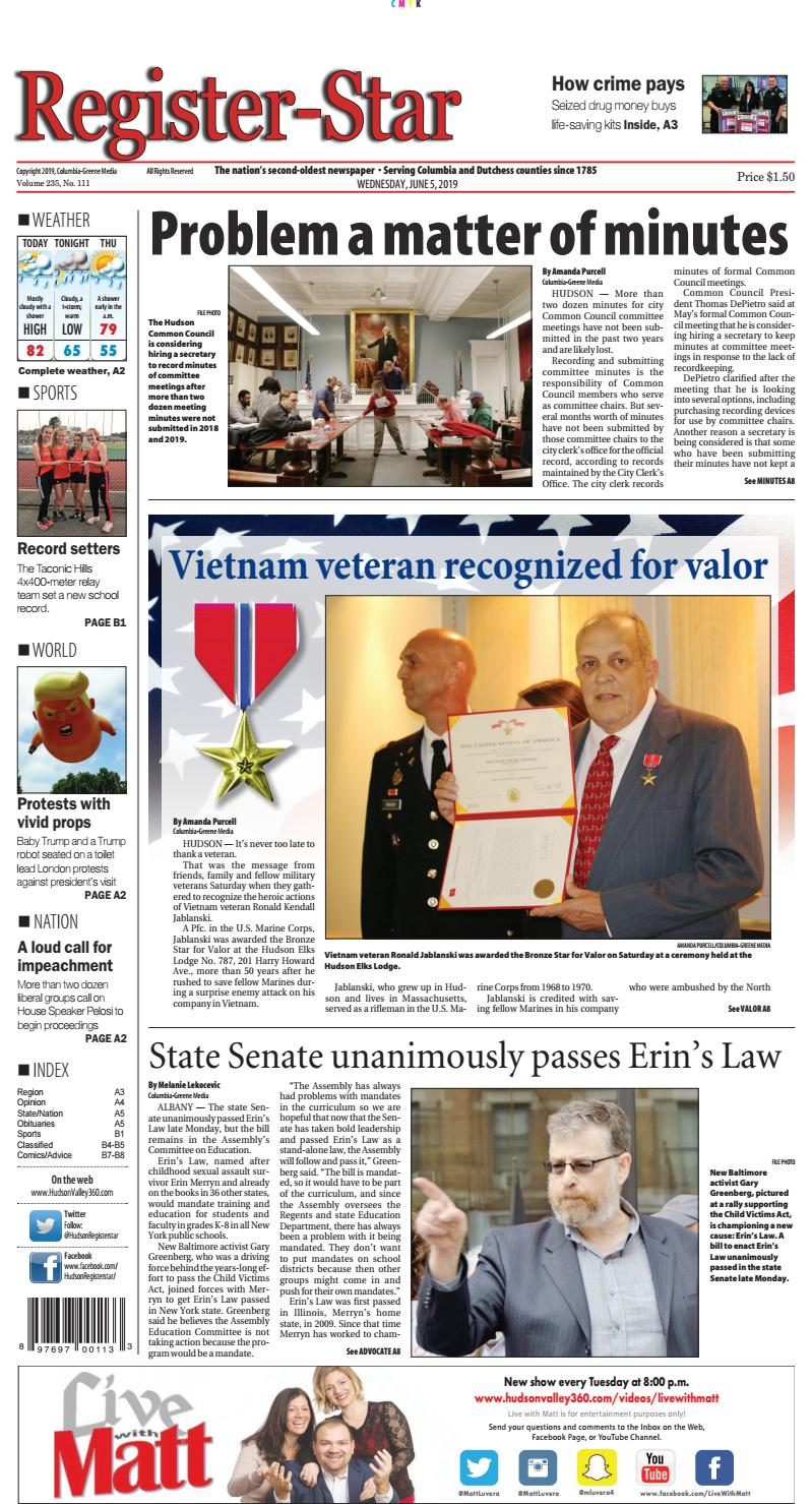 eedition Register-Star June 5 2019 by Columbia-Greene Media - issuu