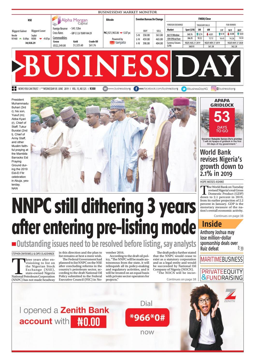 Businessday 05 Jun 2019 By Businessday Issuu