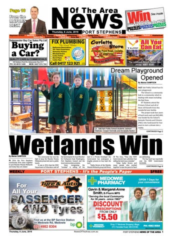 Port Stephens News Of The Area - 6 June 2019 by News Of The Area - issuu