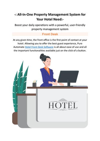 Property Management System Features | Hotel Front Desk