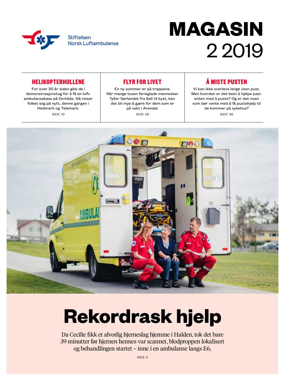 7f48ce7a Stiftelsen Norsk Luftambualanse magasin 0219 by Stiftelsen Norsk  Luftambulanse - issuu