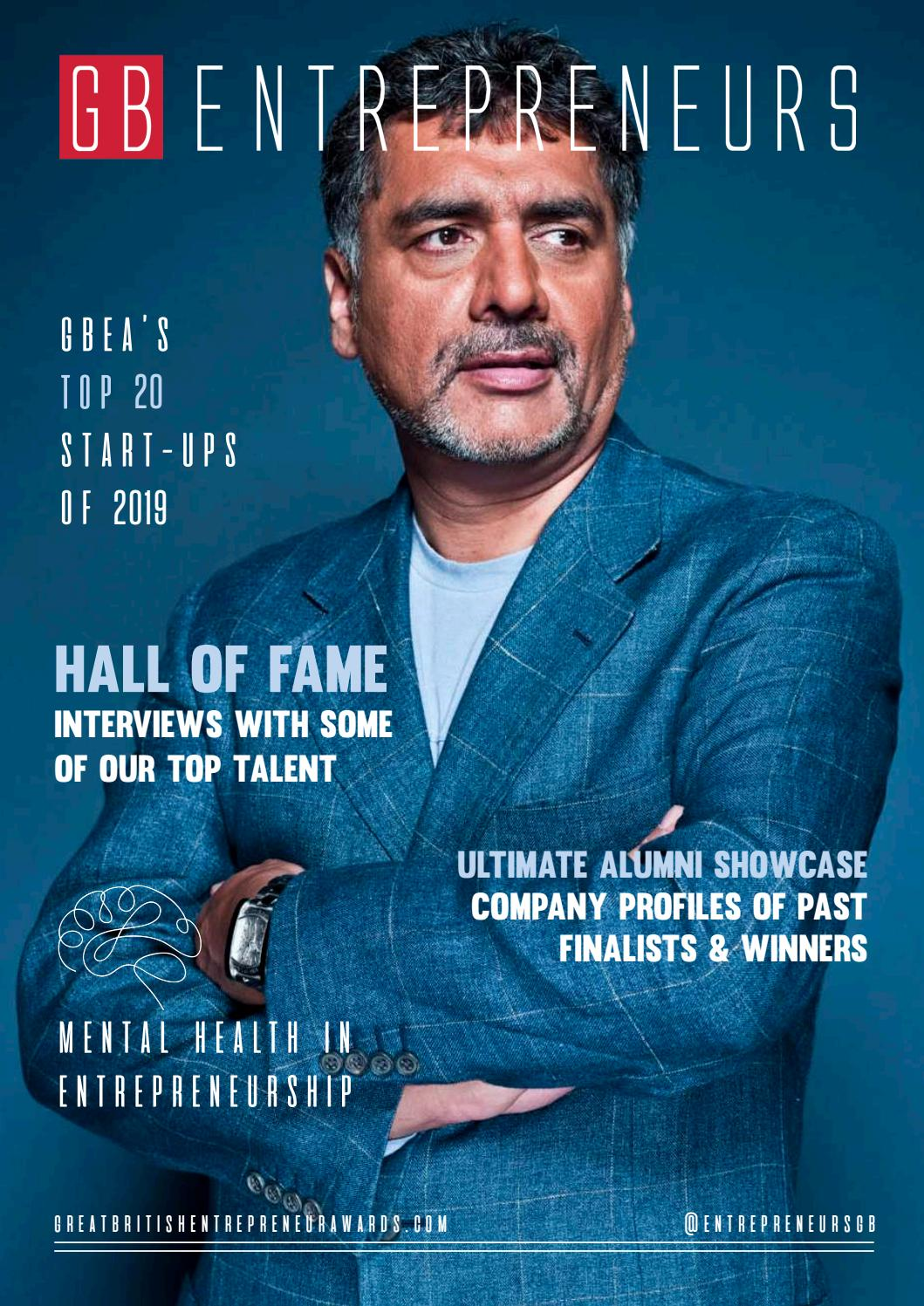Great British Entrepreneurs Magazine Hall Of Fame Issue By