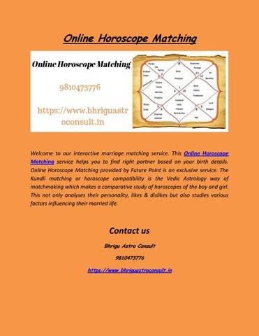 Vedic matchmaking astrology