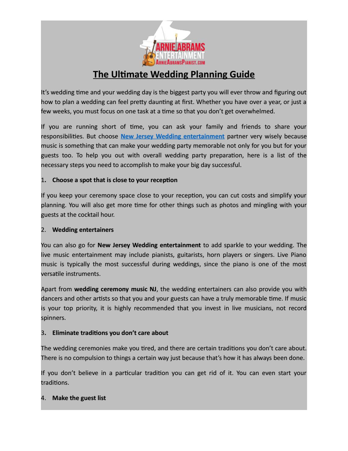 The Ultimate Wedding Planning Guide By Abramsarnie Issuu
