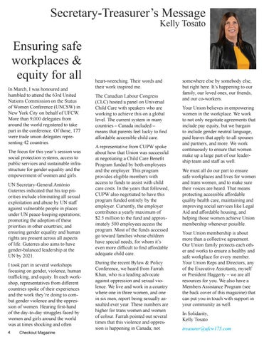 Page 4 of Ensuring safe workplaces & equity for all